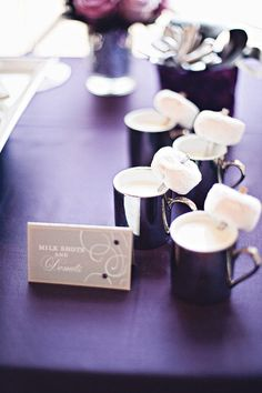 Late night milk shots and donuts. Photography by emilygphotography.com, Event Coordination by bridalbliss.com,