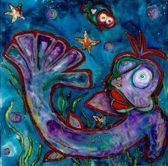 Gurgle Gurgle - Contemporary art, abstract art, painting, acrylic painting, Arizona contemporary artist Veronica Escudero
