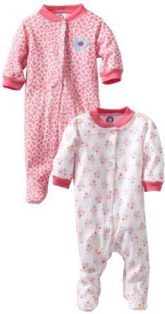 Gerber Baby-Girls Newborn 2 Pack Sleep N Play Snap Front Cats, Pink/White, 0-3 Months Gerber. $9.99