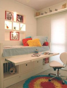 trendy ideas for bedroom ideas for small rooms for girls tween space saving Space Saving Desk, Space Saving Furniture, Space Saver, Furniture Ideas, Space Saving Bedroom, Furniture Styles, Furniture Inspiration, Furniture Makeover, Small Rooms