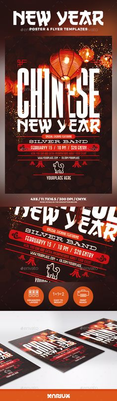 #Chinese New Year Flyer & Poster - Holidays #Events