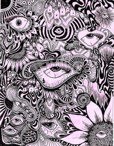Wonderful Absolutely Free Thoughts For your decision to an Aesthetic-Plastic Surgery or alleged cosmetic surgery, there are many, speci Trippy Drawings, Art Drawings, Psychadelic Art, Trippy Painting, Trippy Wallpaper, Hippie Art, Dope Art, Weird Art, Aesthetic Art