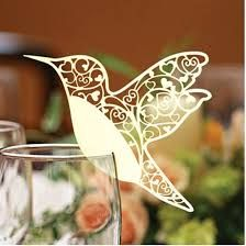 duck egg colour 50 Butterfly Paper Place Card / Escort Card / Wine Glass Card…