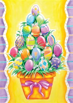 Easter Egg Basket House and Garden Flag