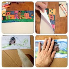 Fun summer art projects for kids, toddlers and homeschoolers.  Just need paper and markers
