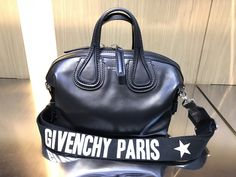 👄Exciting 👄 the latest in fashion from top designers @givenchy leather nightingale small satchel black #musthaves @barby_ds #paris