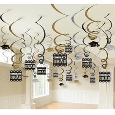 "Graduation party decor idea....mix ""grad"" pendant with pictures of friends/places that made school years special"