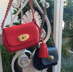 Mulberry SS15 Mini Lily Bags in Red and Black