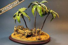 Scale model WW2 Diorama DAK German miniature by MiniatureArmyShop