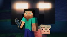 """""""Cube Land"""" - A Minecraft Music Video - An Original Song by Laura Shigih.. YEAH! NO ONE MESSES WITH JEFFERY!!!!"""