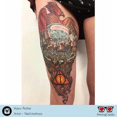 Harry Potter . . . #harrypotter #potterhead #pottermore #harrypottertattoo #Tattoo #Tattoos #GeekTattoo #Geekart #Artist #Tattooart #NerdTattoo #Ink #TattooInk #animetattoo #gamertattoo #otakutattoo #tattoolove #Otaku #Gamer #Nerdy #Nerd #Comic #Geek #Geeky