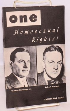 One; the homosexual magazine volume four, number 1, January 1956; Homosexual rights! de Reid, Ann Carll, Lyn Pedersen, Donald Webster Cory, editors: One, Inc, Los Angeles Magazine - Bolerium Books Inc.