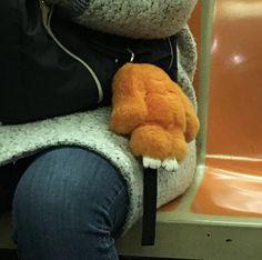 #orange #nyc #subway #stuffedanimal