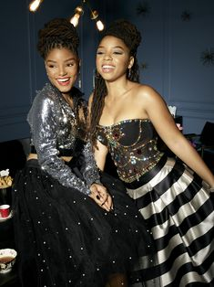 """""""new promotional pic of chloe and halle for grown-ish season Chloe Halle, Grown Ish, Black Girls Hairstyles, Black Girl Magic, Hair Looks, Strapless Dress Formal, Locs, Your Hair, Natural Hair Styles"""