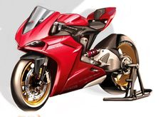 Red Ducati Passion! 1199 Panigale Sketch