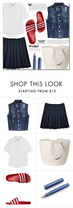 """""""Daily look"""" by dolly-valkyrie ❤ liked on Polyvore featuring Dsquared2, Burberry, Doug Johnston and adidas Originals"""