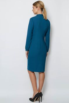 Ivy Dress Aubergine | Libby London