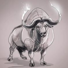 """His firstling bull has majesty ..."" #redbull #lastunicorn #characterdesign #petersbeagle"