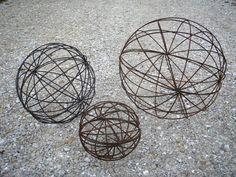 Wrought Iron Garden Art Balls - Spheres in Many Sizes - Topiaries & Obelisks