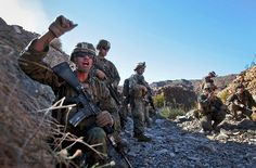 Let me hear your war cry!    (U.S. Marine Corps photo by Sgt. Christopher O'Quin)