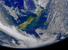 New Zealand  New Zealand was collected on January 9, 2015 when the phytoplankton were blooming — particularly to the east of the islands and along the Chatham Rise.   Derived from the Greek words phyto (plant) and plankton (made to wander or drift), phytoplankton are microscopic organisms that live in watery environments, both salty and fresh.
