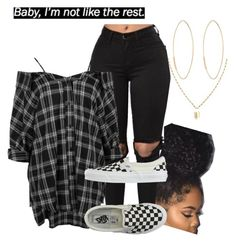 """""""Untitled #325"""" by babygirl2018 ❤ liked on Polyvore featuring Boohoo, Vans and Lana"""