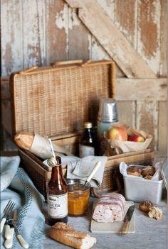 Classy picnic in rustic setting, fun idea