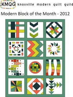 KMQG Block of the Month 2012 - links to all the blocks and fabric requirements on Flickr