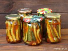 Cukinia po meksykańsku na zimę - Obżarciuch Ketchup, Chutney, Pickles, Zucchini, Salad Recipes, Cucumber, Food And Drink, Cooking Recipes, Homemade