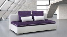 """Das moderne Relaxsofa """"Kari"""" verfügt im ausgezogenen Zustand über eine Liegefläche von 200 x 150 cm. / The modern sofa bed """"Kari"""" is extendable up to 200 x 150 centimeters."""