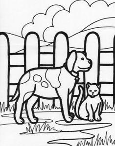 Animale domestice, Cainele si pisica Cat and dog, Farm animals