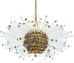 Miracle Glass Rod Chandelier by Bakalowitz & Sohne c 1960