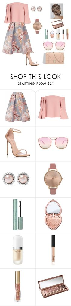 """Untitled #32"" by adflprns on Polyvore featuring Topshop, Stuart Weitzman, Quay, Miu Miu, Olivia Burton, Too Faced Cosmetics, Marc Jacobs, NARS Cosmetics and Urban Decay"