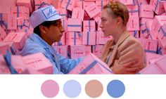 Wes Anderson's Film Scenes Visualized as Color Palettes • Highsnobiety