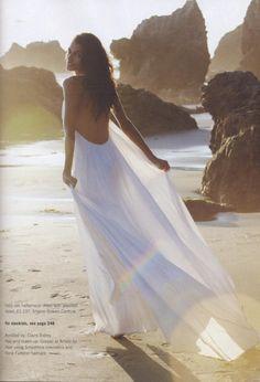 White Beach Wedding Dress, Casual Beach Wedding Dresses www.loveitsomuch.com