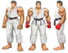 Ryu of Street Fighter 4 Concept Art Game Character Design, Character Sheet, 3d Character, Capcom Street Fighter, Ryu Street Fighter, Drawing Body Proportions, Super Anime, Street Fights, Female Fighter