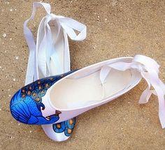 blue wedding shoes flats