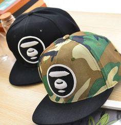 2015 NEW Bathing Ape Black Camouflage Bape AAPE TAP Snapback Cap Hats FREE  Size b20d027861e7