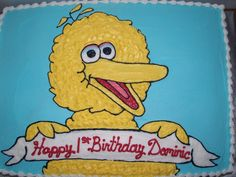Big bird!!! Love this cake, but I would want a pick back ground for Elly :)