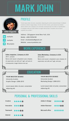 Visual Resume Templates For Editors. Customize This Template In Visme!