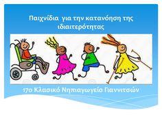Παιχνίδια για την κατανόηση της ιδιαιτερότητας Social Skills, Special Education, Fails, Crafts For Kids, Learning, School, Books, Child, Crafts For Children