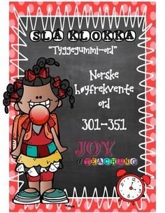 """This is the seventh of 10 High-frequency sets in Norwegian! Set # 7 - Red""""Beat the Clock"""" is a great and engaging word activity for students to master fast recognition of high-frequency words. My students L-O-V-E it! I use this system from grade 1-6 throughout the whole school year."""