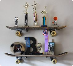 Skateboard Themed Shelving