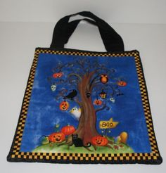 Ghouls in a Tree Trick or Treat Bag