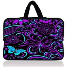 "Purple-black design 17.1"" 17.3"" inch Laptop Bag Sleeve Case with Hidden Handle for Apple MacBook pro 17/Dell Inspiron 17R Alienware M17x/Samsung 700 Sony Vaio E"
