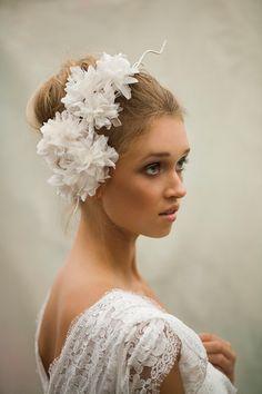 Silk Flower Headpiece Bridal by MaggieMowbrayHats on Etsy, £175.00