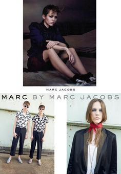 Marc Jacobs Model: Miley Cyrus Photographer: David Sims  Marc by Marc Jacobs Model: Nicole Pollard Photographer: Juergen