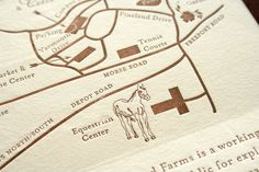 Map with horse illustration
