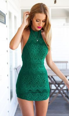 Sexy lace backless tight dress  X831857