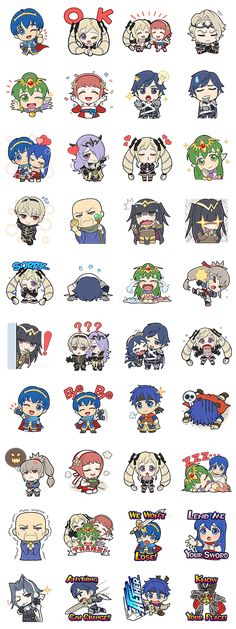 Fire Emblem Line Stickers Fire Emblem Fates, Fire Emblem Chrom, Fire Emblem Awakening, Fire Emblem Wallpaper, Creepypasta Anime, Fire Emblem Warriors, Fire Emblem Characters, Anime Stickers, Cute Chibi